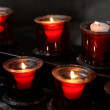 Candles on church - Stock Photo