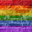 Rainbow flag — Stockfoto