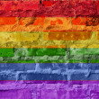 Rainbow flag — Stock fotografie
