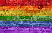 Rainbow flag — Stock Photo