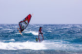 Windsurfing on Gran Canaria. — Stockfoto