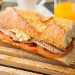Mackerel sandwich - Stock Photo