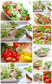 Collage salad — Stock Photo