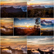 Mountain collage - Stock Photo