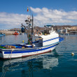 Fishboat on harbor — Stock Photo