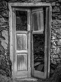 Antigua puerta de la casa — Foto de Stock