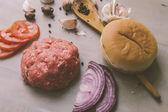 Raw burger — Stock Photo