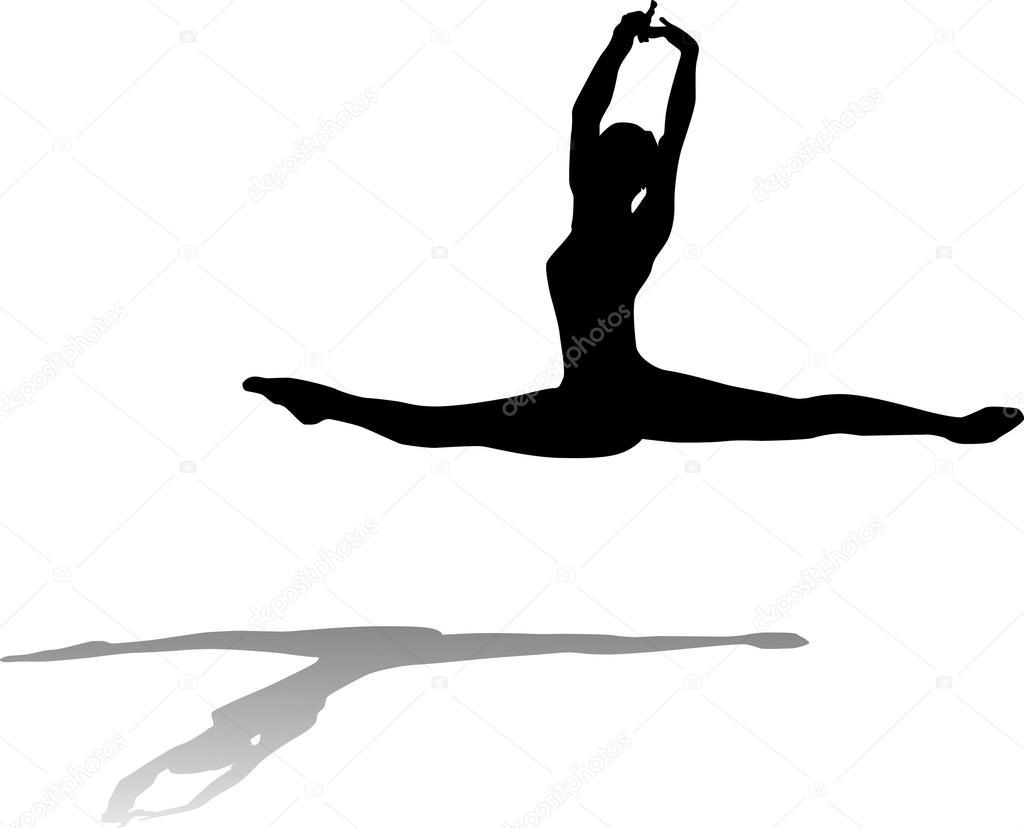 Free flowing Ballet Dancer — Stock Vector © humpkin #12080696