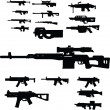 Weapon collection — Vektorgrafik