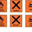 Hazard labels - Stock Vector