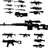 Weapon collection — Stockvektor