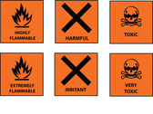 Hazard labels — Stock Vector