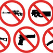 No weapons signs — Stock Vector #12879383