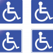Collection of blue handicap signs vector - Stock Vector