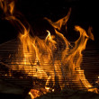 Royalty-Free Stock Photo: Grill flame, hot burning grill