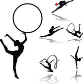 Rhythmic gymnastic — Stock Vector
