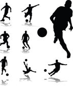 Soccer players collection — Stock Vector