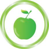Eco shiny button — Stockvector