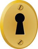Vintage keyhole — Stock Vector