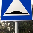 Slowdown obstacle traffic sign — Stock Photo