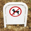 Prohibited area for dogs — Stock Photo