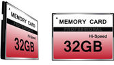 Set of CompactFlash memory cards — Stock Vector