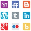 Social media icons — Stock Vector #12108761