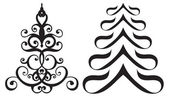 Stylized Christmas trees — Vettoriale Stock