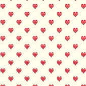 Nice hearts seamless background — Stock Vector