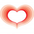 Heart red — Stock Vector