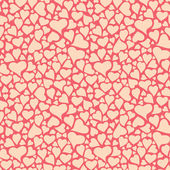 Light red colored hearts pattern — Stock Vector