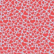 Light red and blue colored hearts pattern — Stock Vector