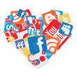 Social heart - Stock Vector