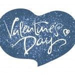 Valentines Day blue heart grunge — Stock Vector