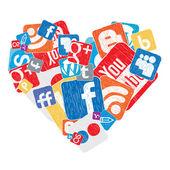 Social heart — Stock Vector