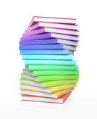 Stack of colorful glossy books. — Stock Photo