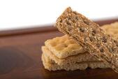 Braun und cremig crispbreads — Stockfoto