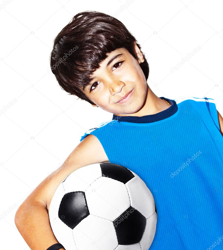 Cute Teen Boys Playing Football
