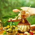 einheimisches Olivenöl — Stockfoto
