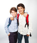 Two cheerful teenagers — Stock Photo