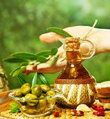 Homemade olive oil — Stock Photo