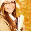 Cheerful student girl — Stock Photo