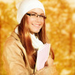 Cute student girl — Stock Photo
