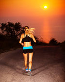 Sporty runner female — Stock Photo