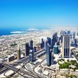 Top view of Dubai — Stock Photo