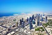 Top view of Dubai — Stock Photo