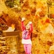 Little girl in autumn park — Stock Photo #13684477