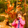 Happy child in autumn — Stock Photo
