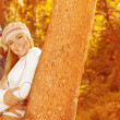 Portrait of family in forest — Stock Photo