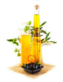 Olive oil still life — Stock Photo